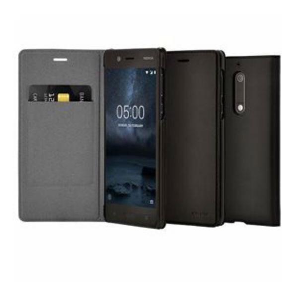 Nokia 5 book cover black