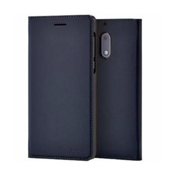 Nokia 6 Book-Cover Bleu