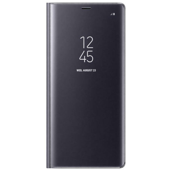Samsung Note 8 Book-Cover avec face avant transparente violet