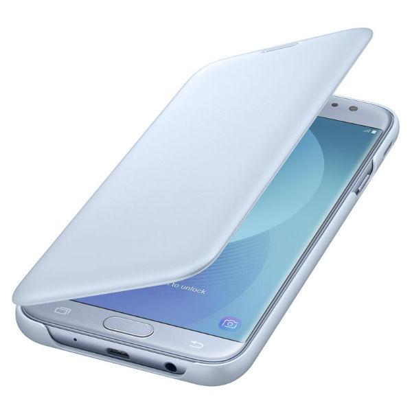 Book-Cover Samsung J7 2017 Bleu